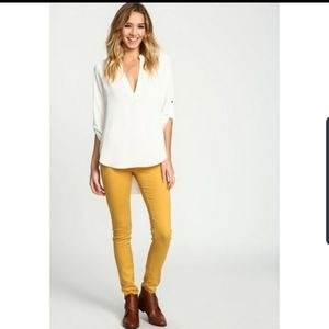 Love Culture Mustard Low Rise Skinny Pants